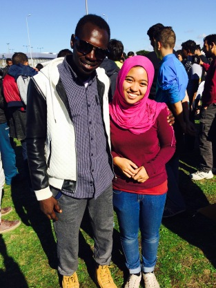 Jamal & I on the first day we met.