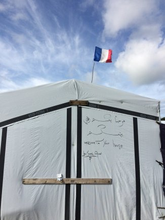 Jamal's shelter in 'The Jungle' camp, Calais.